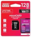 Karta pamięci microSDHC 128GB CL10 UHS I +