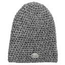 Czapka zimowa - Szara perła - Handmade Płeć Produkt uniseks