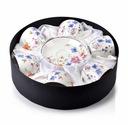 Чашки комплект 6 с тарелкой Ayla цветы