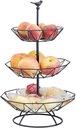 Trzypoziomowy kosz owoców w stylu nordyckim Przeznaczenie kosz na owoce