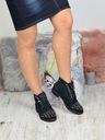 Granatowe botki zdobione Shoe Size 40 Kolor Granat Wzór dominujący inny wzór