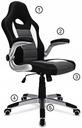 MATERIAŁOWY FOTEL OBROTOWY biurowy CHROM krzesło Kod produktu GTR PLUS HOMEFEST