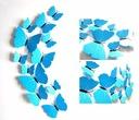 MOTYLE naklejki 3D TONALNE NIEBIESKIE +GRATISY EAN 5904582131501