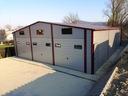 HALA GARAŻ BLASZANY 10x12 AUTOMATYCZNE BRAMY OKNA Spad dachu dach dwuspadowy