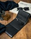 Czarny portfel męski skórzany Always Wild czaszka Kolor okuć srebrny