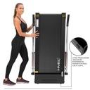 Bieżnia elektryczna z KOLUMNAMI DO NORDIC WALKING Pomiary czas trwania treningu dystans prędkość puls
