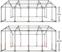 4x6m Namiot ogrodowy podniesiony majówka tarasowy Producent Das Company