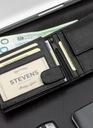 Skórzany portfel męski STEVENS skóra naturalna Orientacja pozioma