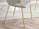 DESIGNERSKIE KRZESŁO DO JADALNI CLOE SZARY ZŁOTY Wysokość siedziska 48 cm