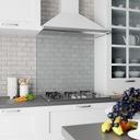 Hartowany Panel Szklany do Kuchni 50x60 Mleczny Gama kolorystyczna Biel