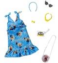 Mattel ubranko Barbie Minions sukienka niebieska