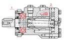 SILNIK HYDRAULICZNY BMR WZMOCNIONY 25cm3 1500obr Waga produktu z opakowaniem jednostkowym 7.165 kg