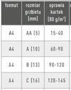 Okładka kanał ROZPRAWA DOKTORSKA czarna C 121-145 Kod producenta 611034