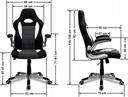 MATERIAŁOWY FOTEL OBROTOWY biurowy CHROM krzesło Minimalna wysokość siedziska 49 cm