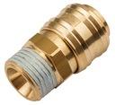 Szybkozłączka Złączka Pneumatyczna GZ 1/2' RQS Waga produktu z opakowaniem jednostkowym 0.09 kg