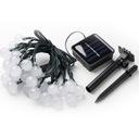 Lampki Solarne Ogrodowe Żarówka Lampa 50 LED 9.5 M Zasilanie solarne