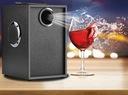GŁOŚNIK BEZPRZEWODOWY 350W DREWNO RADIO FM BOOMBOX Komunikacja Bluetooth