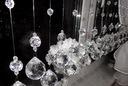 KULA KORALIKI makarony firana kryształki 100cm KN