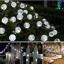 6.5M LAMPKI BALKONOWE ZEWNĘTRZNE DO OGRODU BIAŁE Średnica kuli 2 cm