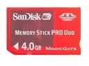 SONY SanDisk MEMORY STICK Pro DUO 4 gb OKAZJA Model Memory Stick