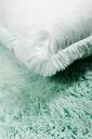 Poduszka miękka długi włos rabbit 45x45 cm mięta Rodzaj dekoracyjna