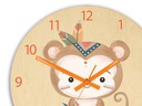 Zegar ścienny dla dziecka MAŁPKA INDIANIN 30cm Bohater inny