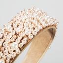Opaska szeroka diadem biała Ślub perły perełki Kolor dominujący biały