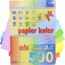 papier kolorowy ksero A4 500 szt 10 kol origami Kod producenta KRESKA_A4_500_10KOL