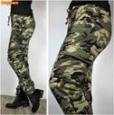 MORO Camo spodnie CARGO bojówki DRESOWE rozmiary Rozmiar S/M