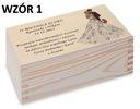Prezent Rocznica Ślubu pudełko herbaciarka wzory Okazja rocznica