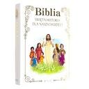BIBLIA NA KOMUNIĘ CHRZEST GRAWER ŚWIĘTA HISTORIA ISBN 9788379716593