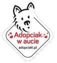 Naklejka samochodowa ADOPCIAK W AUCIE - pies