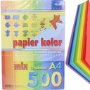 papier kolorowy ksero A4 500 szt 10 kol origami EAN 5905824501786