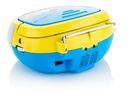 RADIO BOOMBOX DLA DZIECI Z FUNKCJĄ KARAOKE Kolor żółty