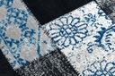 DYWAN VINTAGE 133x190 PATCHWORK niebieski #B852 Rodzaj z krótkim włosiem