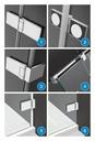 Drzwi prysznicowe wnękowe Arta DWD 90 ShowerGuard Wykończenie szkła przezroczyste