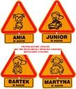 Tabliczka z imieniem DZIECKO W AUCIE różne imiona Kod producenta 5901986770541