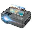 PROJEKTOR RZUTNIK LCD FULL HD 2500LM GŁOŚNIK 140'' Waga produktu z opakowaniem jednostkowym 1.6 kg