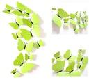 MOTYLE naklejki 3D na ścianę TONALNE ŻÓŁTE +GRATIS Długość 12 cm