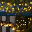 Lampki Solarne Ogrodowe Żarówka Lampa 50 LED 9.5 M Waga (z opakowaniem) 0.3 kg