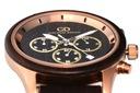 Zegarek męski drewniany Giacomo Design GD481 NEW! Materiał koperty stal