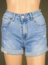 Hot pants damskie szorty spodenki jeans denim L Kolor niebieski