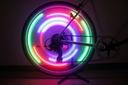 Lampka LED na szprychy nakładka rowerowa na koła Liczba trybów świecenia 3