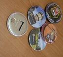 Magnes z otwieraczem 10 sztuk dowolna grafika logo Kod producenta Badge4u
