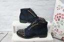 Granatowe botki zdobione Shoe Size 40 Kolor Granat Rozmiar 40
