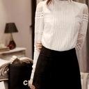 Elegancka biała bluzka koszulowa koronka haft XXXL Rozmiar 3XL