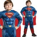 SUPERMAN KOSTIUM Z MIĘŚNIAMI STRÓJ 3-4 L LICENCJA Płeć Chłopcy