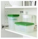 Ikea PRUTA Pojemniki na żywność MEGA zestaw 24h Kod producenta 601.496.73