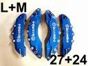Nakładki 3D zaciski hamulce BREMBO L+M Niebieskie
