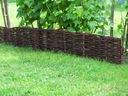 Płotek ogrodowy SOLIDNY płotek wiklinowy 60cm H-20